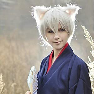 Amazon.com : Others Tomoe Silver 35cm Cosplay Wigs : Sports & Outdoors