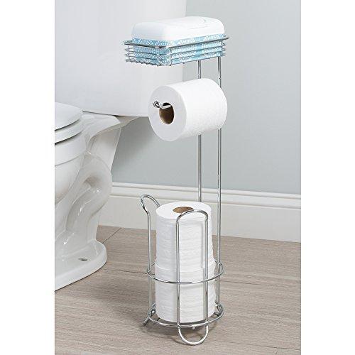 Toilet Paper Stand Tissue Holder Reserve Roll Dispenser W