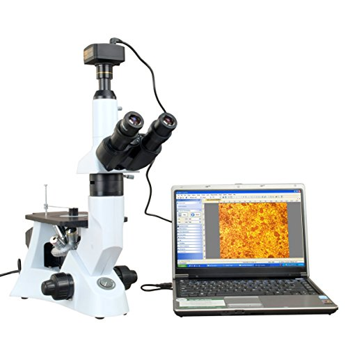 Omax Inverted Infinity Metallurgical Microscope 40X-400X With 14Mp Usb Camera