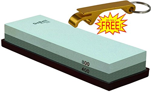 DeBell Sharpening Stone Double Side 400 Grit and 800 Grit with Silicone Base