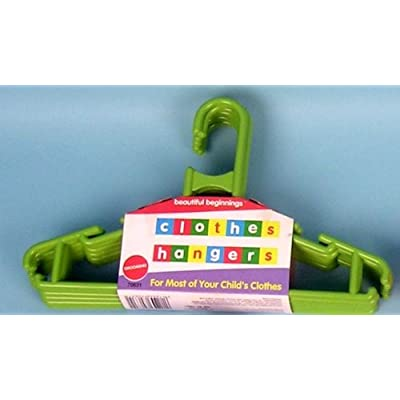Baby Clothes Hangers - Pack of 6 - Colour Green