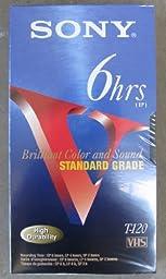 Sony T-120 Standard Grade VHS Video Cassette Tape