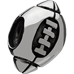 Authentic Chamilia Sterling Silver Charm Football