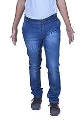 goofy Men's regular fit cross pocket dark blue jeans