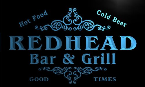 u36995-b-redhead-family-name-bar-grill-home-brew-beer-neon-sign-barlicht-neonlicht-lichtwerbung