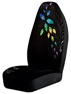 Peacock Universal Bucket Seat Cover, Black by Auto Expressions