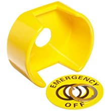Omron A22Z-EG1 Emergency Stop Shroud for EMO, Yellow