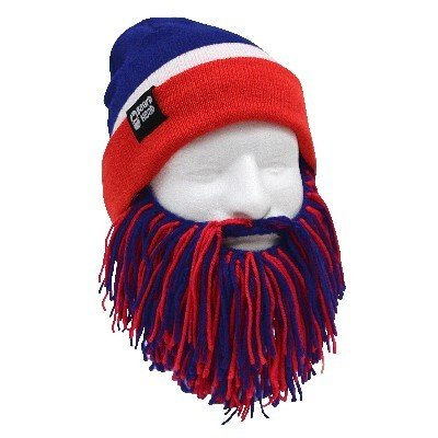 Beard Head Tailgate Barbarian Knit Hat with Beard (NEW YORK) at Amazon.com