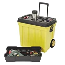 Continental Manufacturing Mobile Work Box 23-1/2 by 15-1/2 by 20-1/4-Inch Yellow/Black