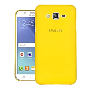 galaxy J7 Back cover, PP Thinnest Hard Protective Case Back Cover Bumper [ Semi-transparent ] for Samsung galaxy J7 (Yellow)
