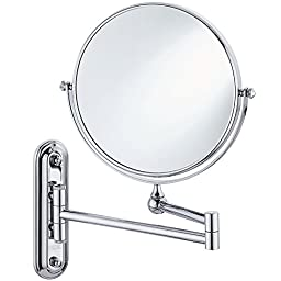 bathroom vanity mirror,bathroom mirror folding,cosmetology mirror,Two-Sided Swivel Wall Mounted,Folding Bathroom Shaving Cosmetic mirror