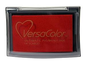 Tsukineko Full-Size VersaColor Ultimate Pigment Inkpad, Scarlet from Tsukineko