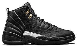 Nike Air Jordan Retro 12 THE MASTER BP Preschool P.S Black White Black Metallic Gold 151186-013 (1Y)