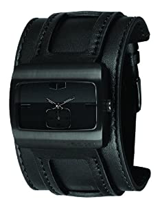 Vestal Men's SN032 Saint All Black Leather Watch
