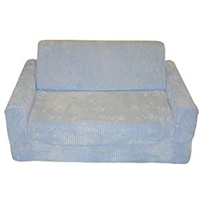 Children's Sofa Sleeper Pillow: No, Upholstery: Chenille - Blue by Fun Furnishings