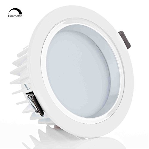 "4"" Dimmable LED Retrofit Recessed Light, 12W (90W Halogen Equiv.) Slim LED Downlight with Reflector trim, Frosted Glass Lens Ceiling Light for New Construction and Remodel 3000K Warm White"