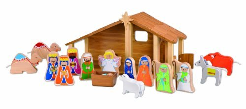 EverEarth Bamboo Nativity with Figures and Animals EE33512 by EverEarth
