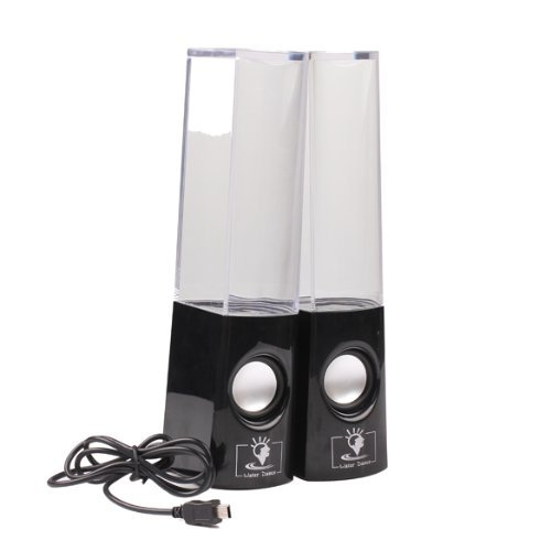 Fortech Portable Usb Dancing Water Speakers For Car, Black