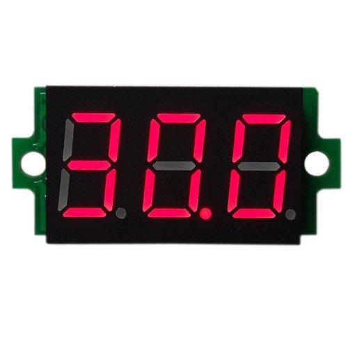DROK Red Volt Meters 0-200V Mini Digital DC Voltmeter LED Cars Voltage Panel Gauge Battery Tester