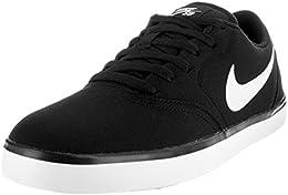 Men s SB Check Cnvs Skate Shoe BlackWhite 85 DM US