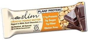Nugo Nutrition Slim Bar - Crunchy Peanut Butter - Case of 12 - 1.59 oz