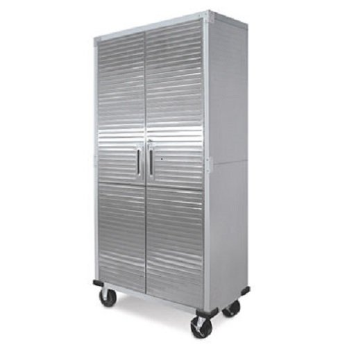 UltraHD Tall Storage Cabinet - Stainless Steel (Rolling Storage Cabinet compare prices)