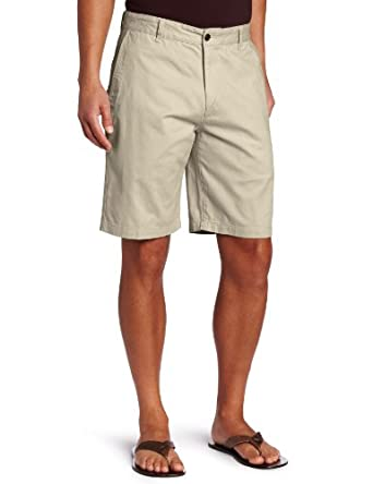Dockers Men's Perfect Short D3 Classic Fit Flat Front, Sand Dune, 28