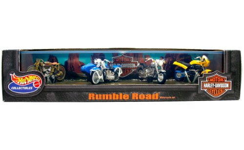 1999 Hot Wheels Collectibles Harley Davidson Rumble Road 4-Vehicle Set