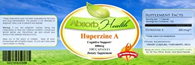 Huperzine A   200mcg   100 Capsules   Memory and Cognitive Support Supplement   Upgrade Your Brain