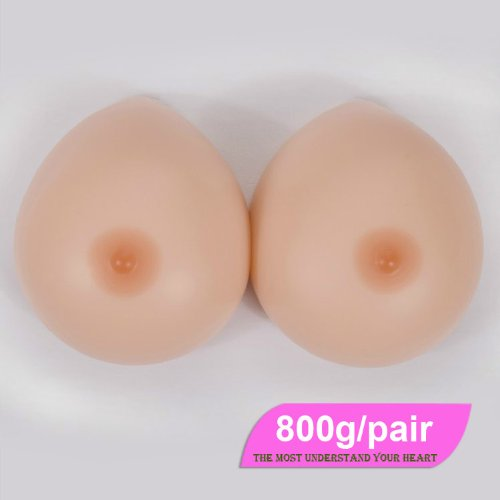 800G/Pair C Cup Water Drop Shape Silicone Mastectomy Breast Forms Breast Enhancer front-964749
