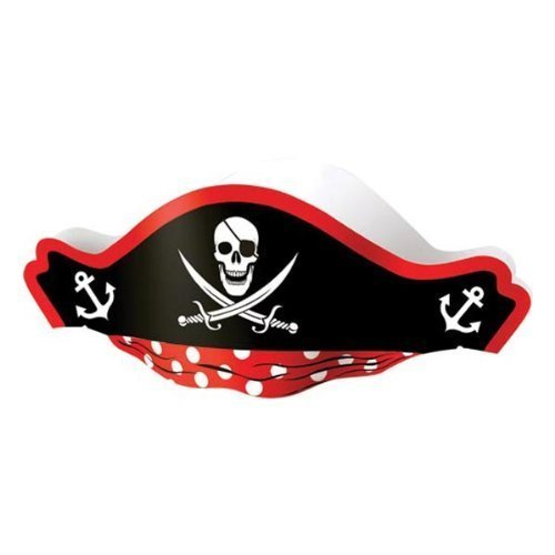 US-Toy-Pirate-Captain-Cardboard-Party-Hats-Costume