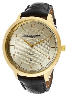 Jorg Gray JG1060-15 - Reloj para hombres, correa de cuero color negro