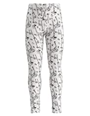 Cotton Rich All-Over Giraffe & Heart Print Leggings