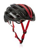 Santini Casco de Ciclismo (Negro / Rojo)