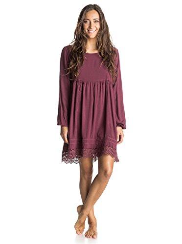 Roxy Junior's Lace Traveler Dress, Burgundy, Small