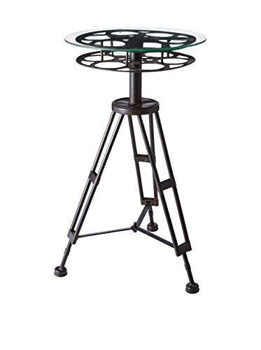 Deco 79 Metal Glass Accent Table, 25 by 15""
