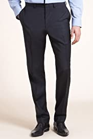 Limited Collection Slim Fit Flat Front Trousers [T15-1176-S]