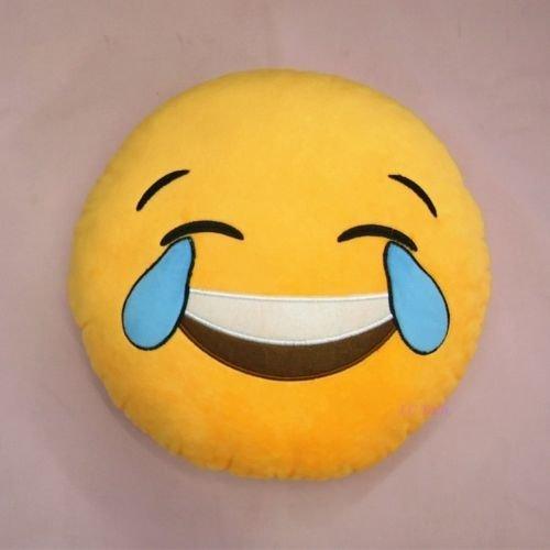 ic ne emoji emotic ne smiley jaune ronde coussin de canap. Black Bedroom Furniture Sets. Home Design Ideas