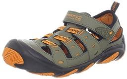 Sperry Top-Sider Wet Tech Sandal (Little Kid/Big Kid),Green/Black/Orange,1 W US Little Kid