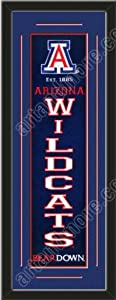 Heritage Banner Of Arizona Wildcats With Team Color Double Matting-Framed Awesome... by Art and More, Davenport, IA