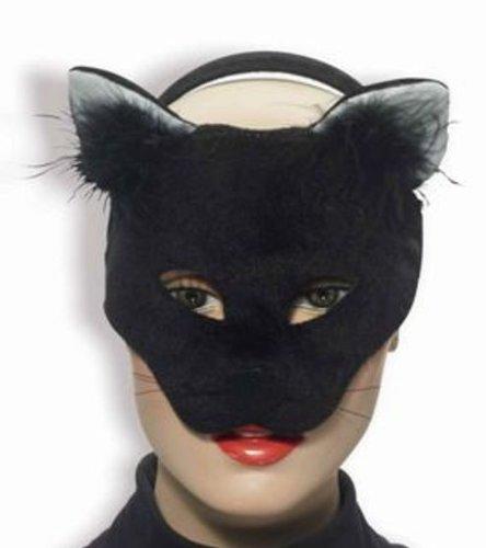 Forum Novelties Deluxe Plush Black Cat Animal Half Mask