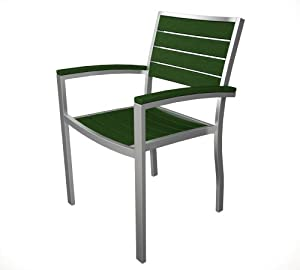 Euro Arm Lounge Chair Finish: Silver & Green
