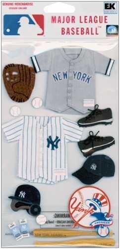 Jolee'S Major League Baseball Stickers-New York Yankees front-75524