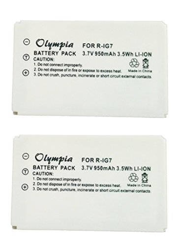 2 Pack R-IG7 Battery for Logitech 720, 850, 880, 885, 890 Pro, H880, 900 and Harmony One Universal Remotes (900 Pro compare prices)