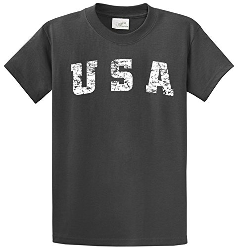 Joe's USA(tm) -Tall Vintage USA Logo Tee T-Shirts in Size 3X-Large Tall -3XLT