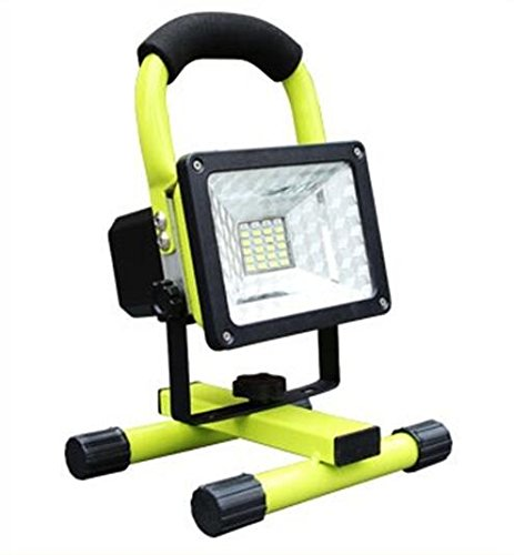 soled Rechargeable Work Lights Waterproof Outdoor Camping Lights with Emergency Light Flashing Mode, Built-in Lithium Batteries, 15W 24LED 2 USB Ports to Charge Mobile Devices,Green