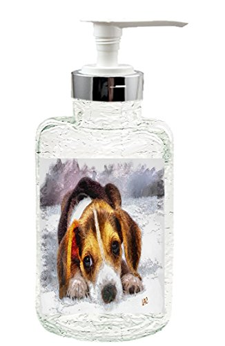 Beagle 'Daisy Mae' Glass Soap/Lotion Dispenser by Doggylips (Snoopy Soap Dispenser compare prices)