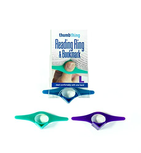 Thumb Thing (a reading ring) Pageholder & Bookmark LARGE (set of 3-assorted colors)