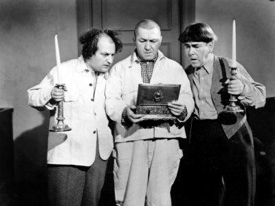 "The Three Stooges (Larry, Curly, Moe) in ""A Bird in the Head"""