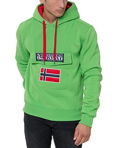 Geographical Norway Sudadera con Capucha Gadrien Verde L